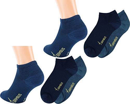 RS. Harmony | Sneaker Socken | Bambus Super Weich Atmungsaktiv | 6 Paar | mittel-dunkel jeans, marine-melange | 39-42
