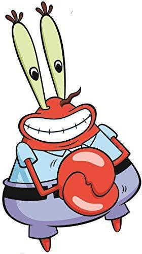 7 Inch Mr. Krabs Crab Krusty Krab Spongebob Squarepants Removable Peel Self Stick Adhesive Vinyl Decorative Wall Decal Sticker Art Kids Room Home Decor Girl Boy Children Bedroom Nursery 4 x 7 Inch