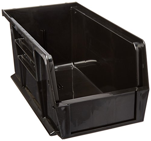 Quantum Storage Systems QUS230 Plastic Storage Stacking Ultra Bin 10-Inch by 5-Inch by 5-Inch Black Case of 12 QUS230BK