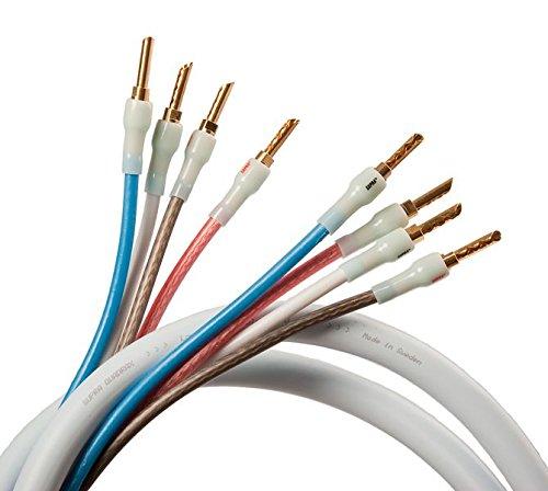 Supra Cables Quadrax luidsprekerkabel 4 x 2.0 Bi-Amp CombiCon krimp, 4.00m