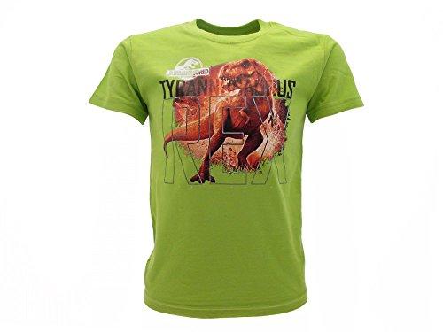 T-Shirt Originale Jurassic World T-Rex Prodotto Ufficiale Il Regno Distrutto Verde Pistacchio (9-11 Anni)