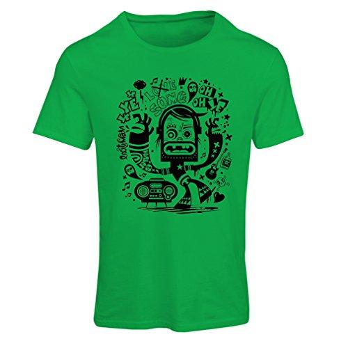 lepni.me N4360F Camiseta Mujer Bailarina Friki (X-Large Verde Multicolor)