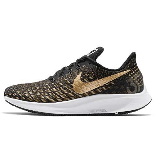 Nike Women's Running Shoes, Mehrfarbig Black Metallic Gold Wheat Gold 007, 5 UK