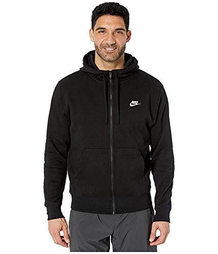 Nike NOS M NSW Club Hoodie FZ BB, schwarz - XL