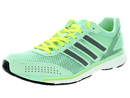 adidas Womens Adizero Adios Boost 2, Mint/White, 11 B