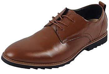 iloveSIA Men s Oxford Fashion Leather Shoes Dark Brown US Size 10