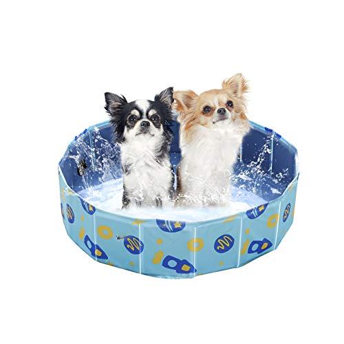 YGJT Hundepool, Haustier Pool für große/kleine Hunde, Klapppool und Planschbecken Schwimmbecken, Faltbarer Badewanne Klappbares Haustier-Duschbecken 80*20 cm