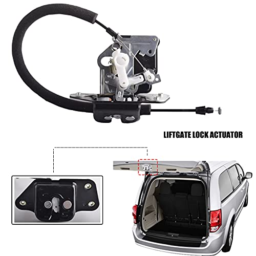Unikpas Tailgate Door Lock Actuator Integrated With Latch Compatible for Dodge Grand Caravan 2009-2017 Chrysler Town & Country 2009-2016 Replace Lift Door Lock 4589243AG 746-262