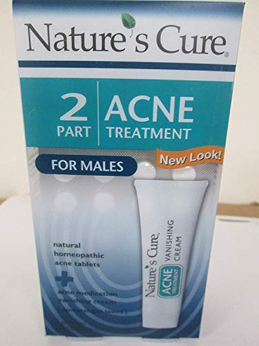 Nature's Cure Two-Part Acne Treatment System for Males 1 Month Supply (Quantity of 3)