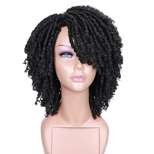 HANNE Short Dreadlock Wig for Black Women and Men Twist Synthetic Wigs...