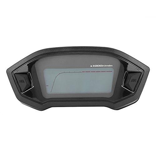Qiilu Universal Motorcycle Digital Colorido LCD Velocímetro Cuentakilómetros Tacómetro con Sensor de Velocidad