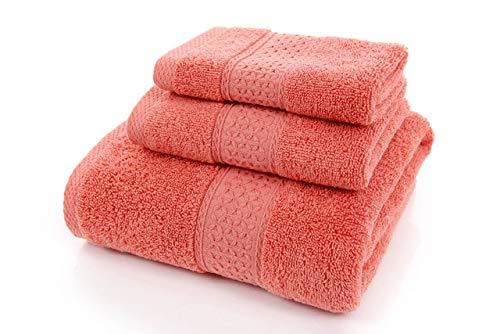 IAMZHL Big Large Bath Towel Cotton Bathroom Towel Set Luxury Hand Face Towel Soft Thick Shower Blanket Men Women Toalla 3pc-code1-3pcs Pack.