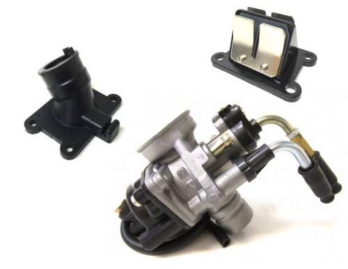 17,5mm Tuning Vergaser Ansaugstutzen Membranblock Set für Minarelli AM6 Aprilia Rieju Beta