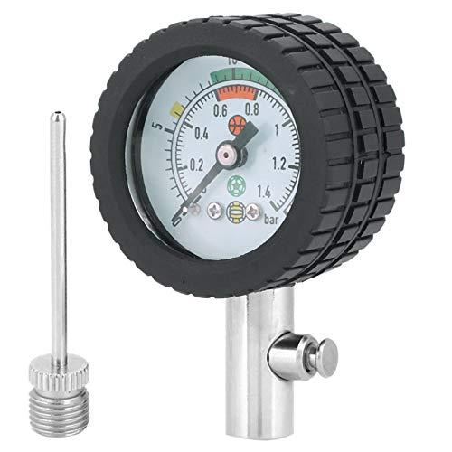 Ellenny Manómetro de Bola - Herramienta de barómetro de medidor de presión de Aire de Acero Inoxidable para Baloncesto, fútbol, Voleibol