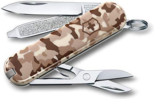 avis couteau de poche du monde professionnel Victorinox Classic Pocket Knife (7 caractéristiques, limes, ciseaux) Camouflage désert
