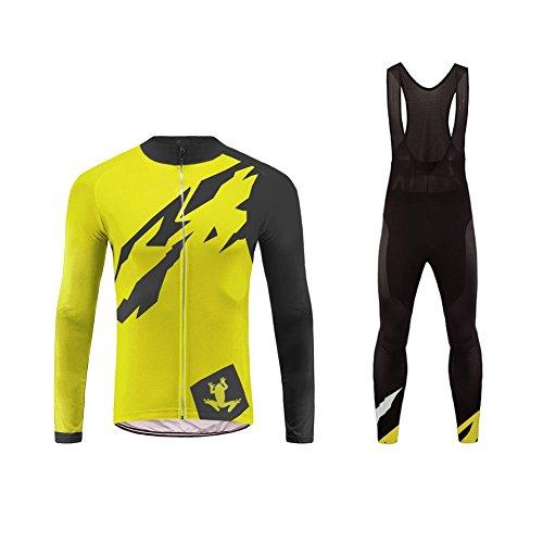 Uglyfrog Abbigliamento Ciclismo Uomo Asciugatura Veloce Maglia Manica Lunga +Pantaloni Abbigliamento da Ciclismo Abbigliamento Sportivo da Equitazione DXMZ11F