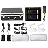 WTH-208-B Ionic Foot Bath Detox Machine Ionic Detox Foot Bath Machine with Dual Display Foot Care Spa Massager Two Person Use for Home Use, Salon Beauty Club with Electrode Patch, Electrode Wire(US)