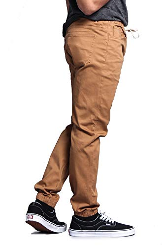 Victorious Mens Twill Jogger Pants (Medium, Wheat)