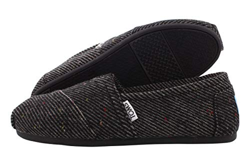 TOMS Classics Black and White Wool 10008976 Womens 5