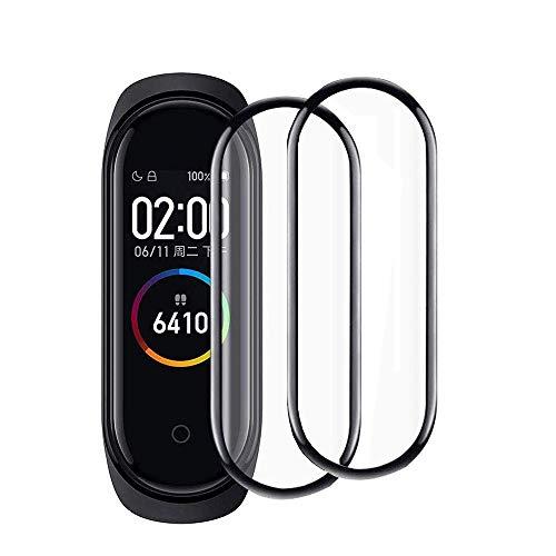 FiiMoo Protector de Pantalla Compatible con Xiaomi Mi Band 4, [2 Pack] [3D Cobertura Completa] [ Alta Sensibilidad]