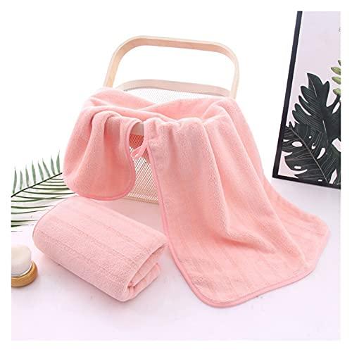ZHMYENGMING Toalla de baño Nuevas Toallas de baño súper absorbentes Toallas de Playa Gruesas Toalla de Coral Grande Toalla de Toalla Vertical Cómodo Toalla de baño de Cara Suave (Color : Pink)