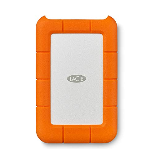LaCie Rugged USB-C, tragbare externe Festplatte 5 TB, 2.5 Zoll, USB-C, PC & Mac, inkl. 2 Jahre Rescue Service, Modellnr.: STFR5000800