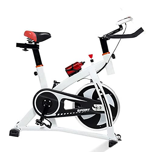 Bicicleta de ciclismo para interiores estacionaria, bicicleta de ciclismo para gimnasio cardiovascular en casa, bicicleta de entrenamiento con transmisión por correa con volante de inercia de 35 LBS,