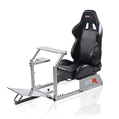GTR Simulator - GTA Model with Real Racing Seat, Driving Racing Simulator Cockpit Gaming Chair with Gear Shifter Mount