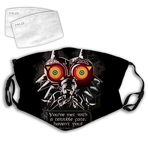 Cool Majora's Mask Adjustable Anti Dust Scarf Face Mouth Mask Filters Bandana Outdoor Women Men White