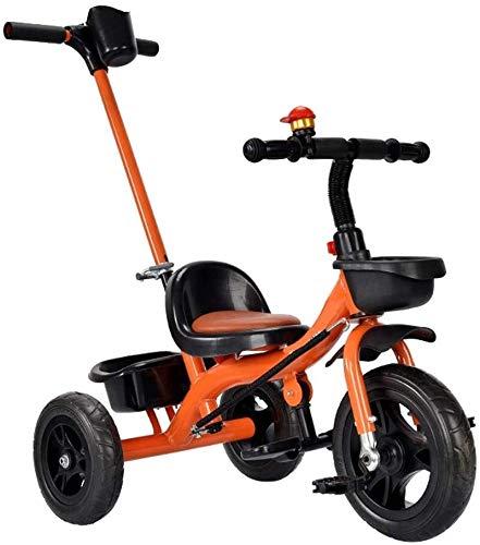 TOKUJN Triciclo para niños, con una Canasta de Almacenamiento Grande y un Sistema de Frenos Dual, Adecuado para triciclos para niños para niños o niñas de 15 Meses a 6 años de Edad.
