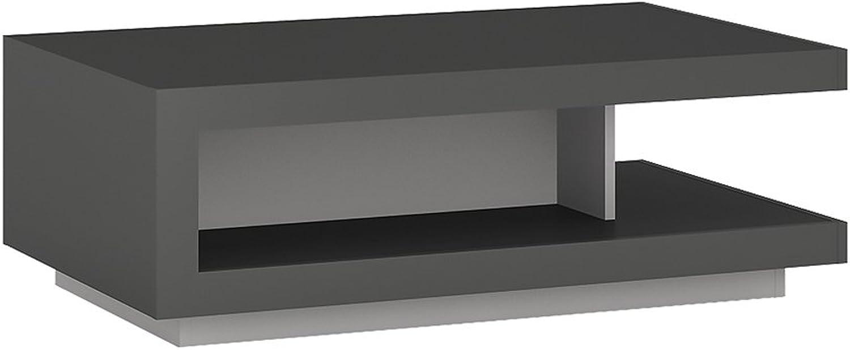 Mbel to go Design Couchtisch. Platin grau glnzend, Holz