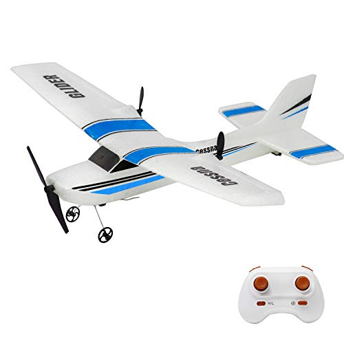 Landbow RC Plane, 2.4Ghz 2 Channels Remote Control Airplane Ready to Fly,Durable Styrofoam RC Plane with 3-Axis Gyro,Stability Flight RC Aircraft for Kids Boys Beginner