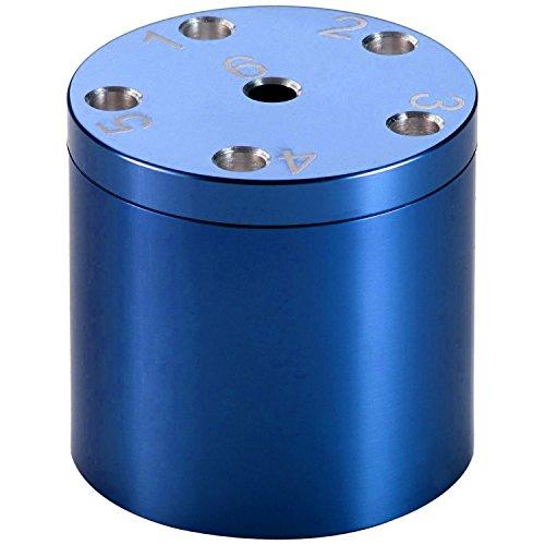 BestSaller 3005 SUPER SIX Premium Aluminum, 36 Spielstäbchen & 2 Würfel, blau (1 Stück)