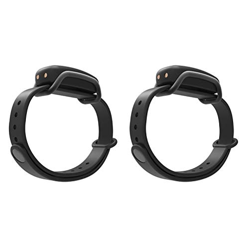 BOND TOUCH Vibrating Waterproof Bluetooth Long Distance Connection Bracelet with 4 Day Battery Life for iOS and Android Devices, Black (2 Pack)
