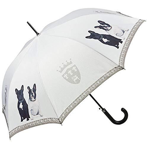 VON LILIENFELD® Paraplu Automatische Vrouwen Mannen Motief Hond Franse Bulldogs