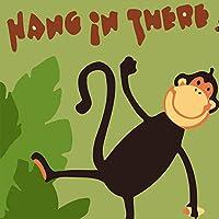 """子供と大人と初心者のための番号によるDIYペイント、ペイントブラシでペイントワークを描くキャンバス油絵ギフトキット、8""""x 8"""",Monkey"""