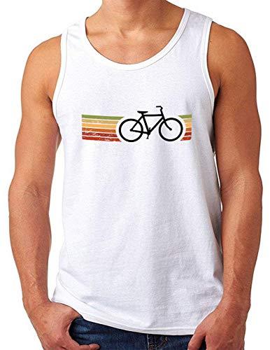 OM3® Retro Bicycle Tank Top Shirt   Herren   Cycling Cyclist Biking Fahrrad Radfahrer   Weiß, S