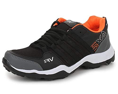TRASE Parkar Black Orange Sports Shoes for Boys - 5 UK