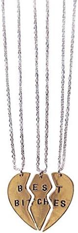 Fashion two set auger best friends necklace