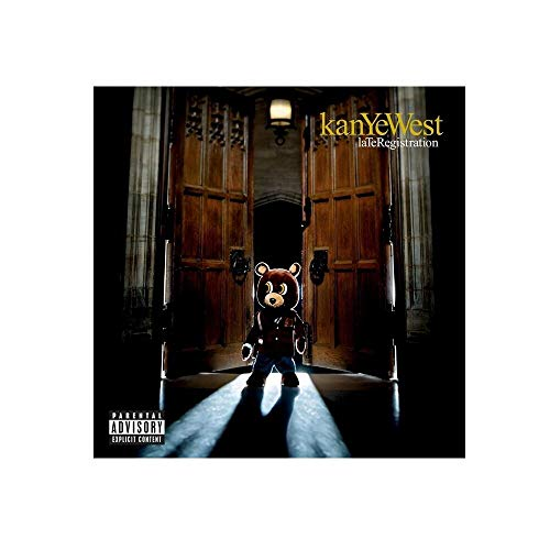 TELEGLO (No Frame) 50 * 70cm Kanye West Late Registration Art Canvas Poster Music Album Poster Wall Pictures for Living Room