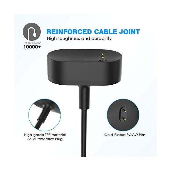 KIMILAR Cable Compatible con Fitbit Inspire/Inspire HR Cable de Carga, (1 Pcs) Cargador Charger (100cm / 3.3ft) USB de… 4