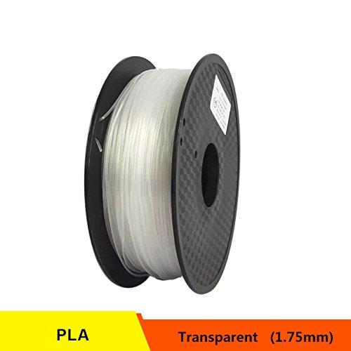 RONGT PETG T transparant glas 3D-printer Filament Zuur-Alcaline Bestand 1,75 mm 1 kg spoel Kunststof Materiaal Uitstekende Dikte (Helder)