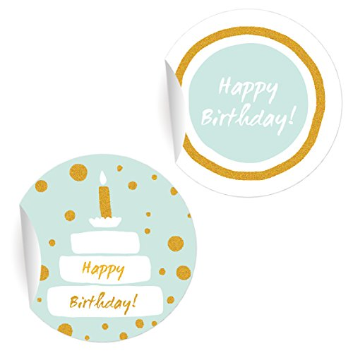 24 mooie verjaardagsstickers met taart