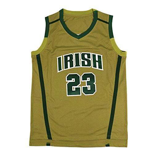 QIMEI Custom Men's Lebron #23 High School Basketball Jersey E15 Yellow