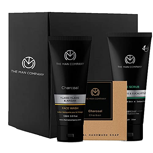 The Man Company CHARCOAL EXPRESS Gift Set of 3 (Charcoal Soap Bar, Charcoal Face Wash,Charcoal Face Scrub)   Made in India
