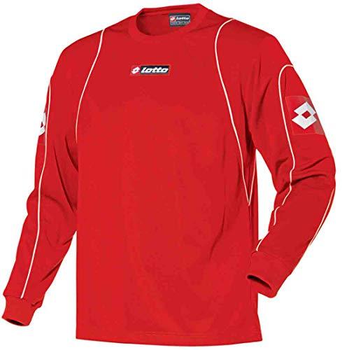 Lotto Sport T-Shirt LS Olimpia Langarm, Herren, Gr. L (US), rot/weiß