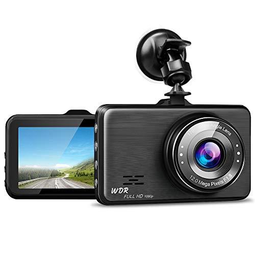 Caméra de Voiture HD 1080P avec Capteur G Enregistrement en Boucle Détection de Mouvement Caméra Enregistreur pour Voiture Grand Angle 170 °