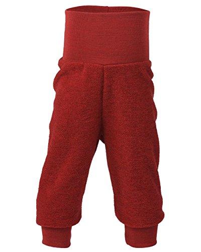 Engel Baby Hose Frottee, 100% Schurwolle, Natur, Gr. 50/56-86/92, 4 Farben (86/92, Rot Melange)