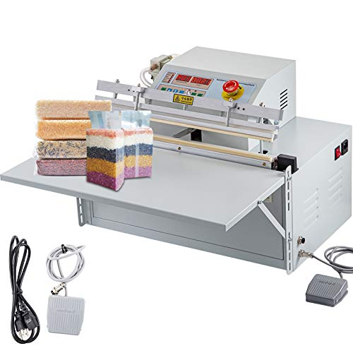 VEVOR Vacuum Sealing Machine, 500 mm/19.6 inch External Vacuum Sealer, 8 mm/0.31 inch External Food Vacuum Sealer, Desktop Food Sealers Vacuum Packing Machine for Both Wet and Dry Food Preservation