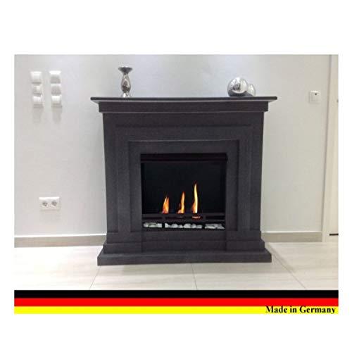 Kaminbau Mierzwa (df-shopping), caminetto a gel ed etanolo modello Berlin Deluxe, con accessori inclusi, capacità di 3 litri e bruciatore regolabile Granito scuro